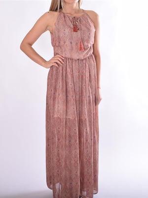 Платье розовое в узор   5488773