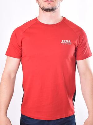 Футболка червона з принтом | 5509984