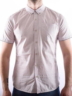 Рубашка белая в крапинку | 5510005