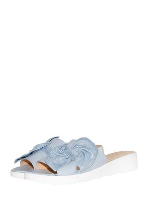 Шльопанці блакитного кольору | 5502406