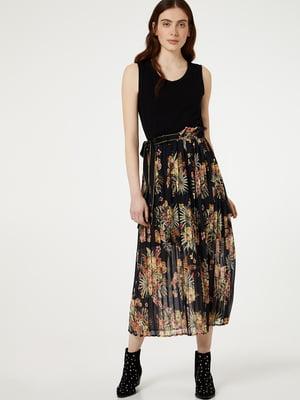 Платье черное в принт | 5488900