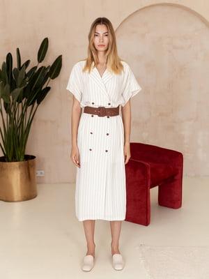 Сукня біла в смужку | 5510823