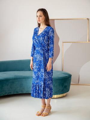 Сукня синя в принт | 5510836