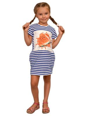 Сукня смугаста в принт | 5513409