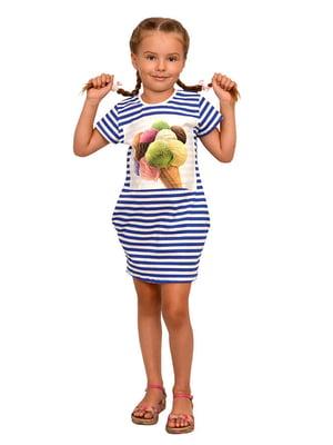 Платье в полоску и принт | 5513410