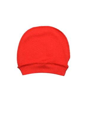 Шапка ясельная красного цвета   5513423