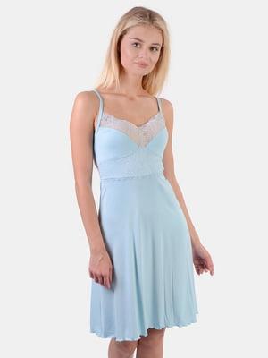 Рубашка ночная голубая | 5513882
