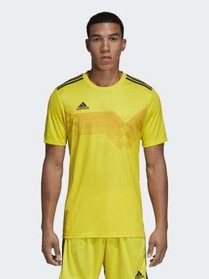Футболка желтая с логотипом   5513650