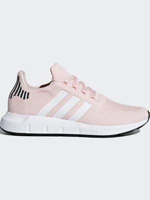 Кросівки кольору пудри з логотипом | 5513717