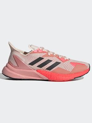 Кросівки кольору пудри з логотипом | 5513732