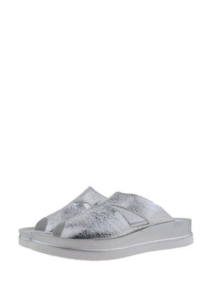 Шльопанці сріблястого кольору | 5485274
