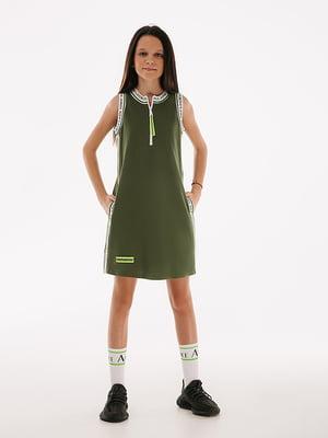 Сукня кольору хакі   5514106