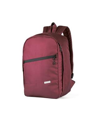Рюкзак для ручної поклажі бордовий (40x20x25 см) | 5514200