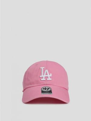 Кепка рожева з малюнком | 5512739