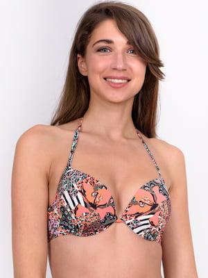 Ліф для купання різнобарвний в принт | 5511417
