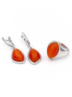 Комплект: кольцо и серьги | 5514324