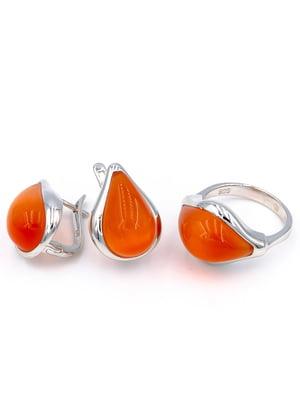 Комплект: кольцо и серьги | 5514332