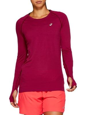 Джемпер цвета вишни с логотипом | 5259714