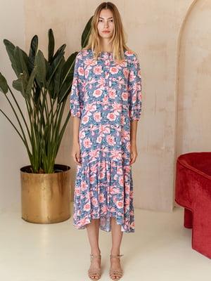 Сукня блакитна в квітковий принт - MiNiMax - 5514337