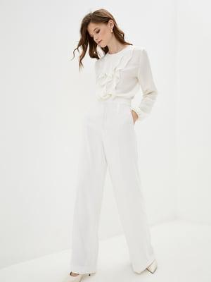 Блуза кольору вершкового крему   5514341