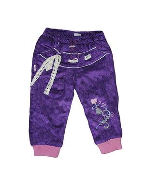 Штани фіолетові з декором | 5504774