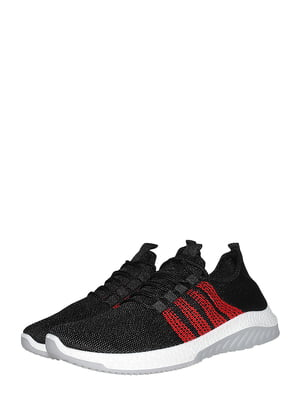 Кроссовки черно-красного цвета | 5511511