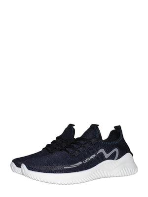 Кроссовки синего цвета с принтом | 5513696