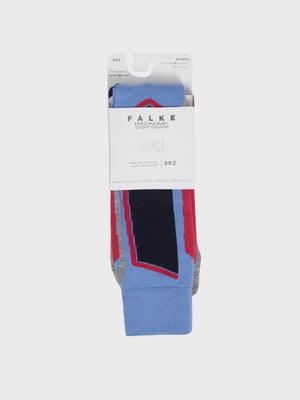 Носки лыжные сине-красного цвета с логотипом | 5512908