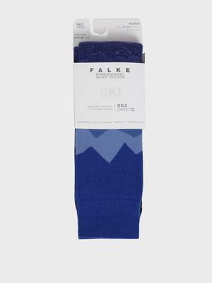 Носки лыжные сине-голубого цвета с логотипом | 5512913