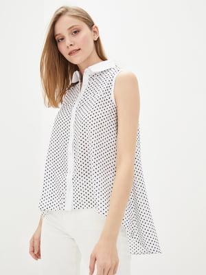 Рубашка белая в принт | 2471854