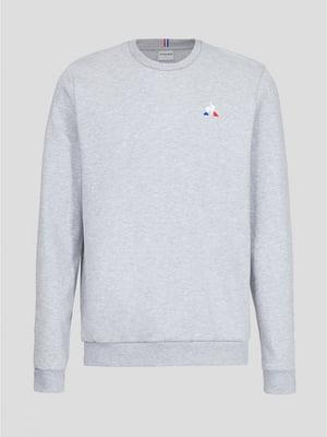 Джемпер серый с логотипом | 5511847