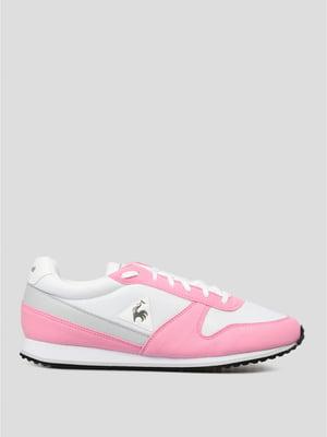 Кросівки рожеві з логотипом | 5512019