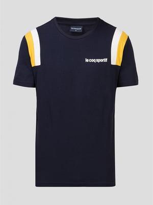 Футболка синяя с логотипом | 5512044