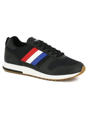 Кроссовки черные с полосками | 5512164
