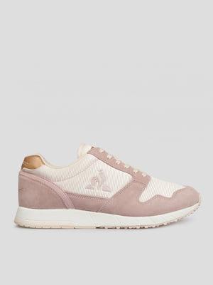 Кросівки рожеві з логотипом | 5512165