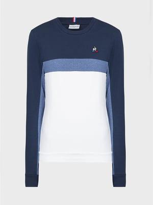 Джемпер біло-синій з логотипом | 5512192