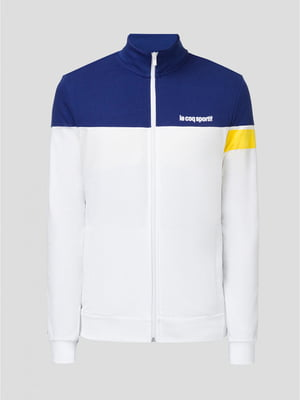 Кофта бело-синяя с логотипом | 5512432