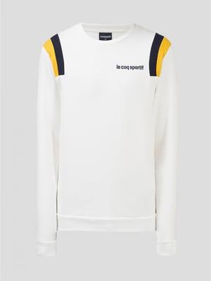 Джемпер белый с логотипом | 5512857