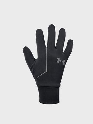 Перчатки черные с логотипом | 5512954