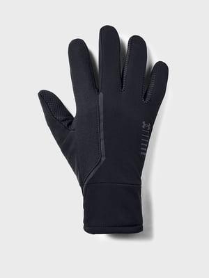 Перчатки черные с логотипом | 5512955