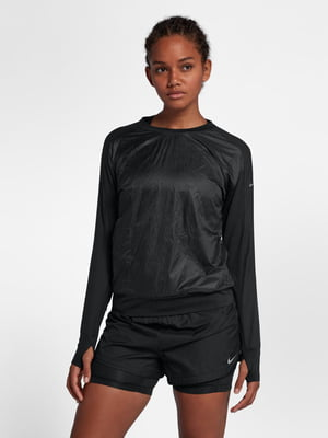 Джемпер черный с логотипом   5513054