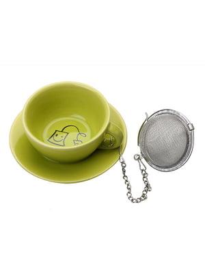 Підставка під чайні пакетики з металевим фільтром (3,5х8х8 см) | 5453400