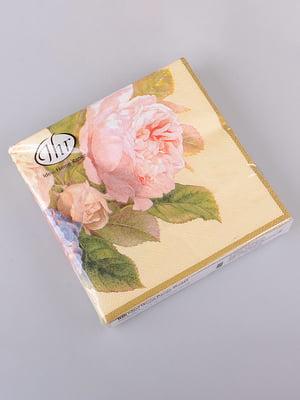Набір серветок «Троянди» (20 шт) | 5453502