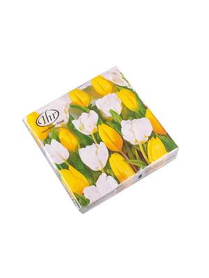 Набір серветок «Тюльпани» (20 шт) | 5453504