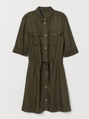 Сукня-сорочка кольору хакі | 5515191