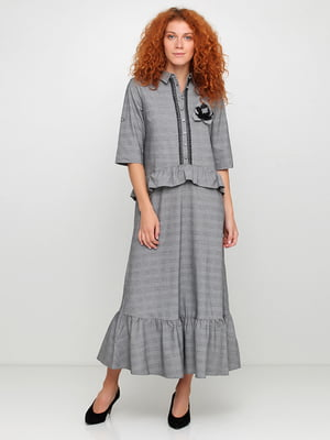 Сукня сіра в клітинку | 5503474