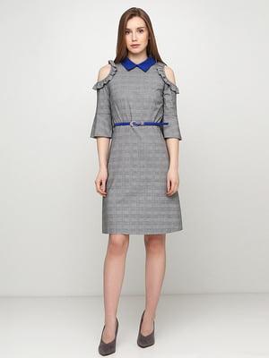Сукня сіра в клітинку | 5503478