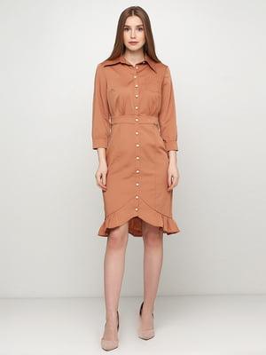Сукня кольору кориці | 5503539