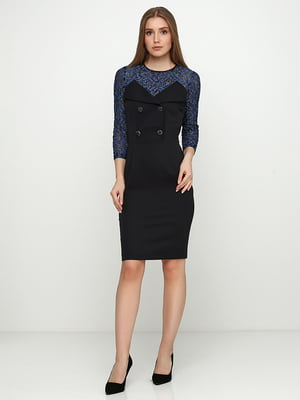 Сукня чорно-блакитна | 5503683