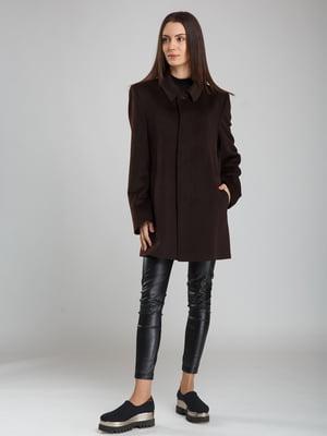 Пальто коричневе | 5010536